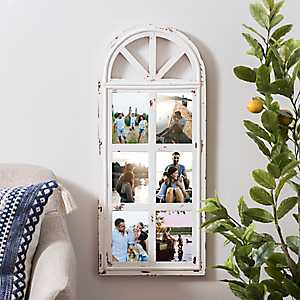 6-Opening White Distressed Arch Collage Frame