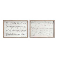 Bible Verse Shiplap Plaques, Set of 2