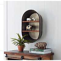 Metal Tub and Wood Shelf
