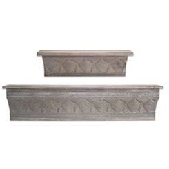 Embossed Metal Shelf Set, Set of 2