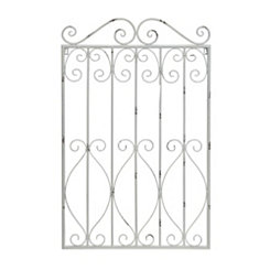 Distressed White Garden Gate Plaque