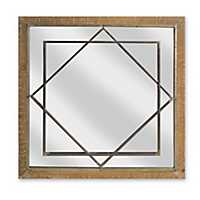 Garrett Geometric Wood and Metal Decorative Mirror