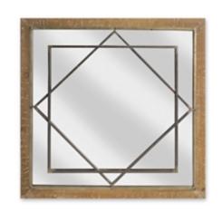 Garrett Geometric Wood and Metal Decorative Mirror