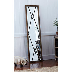 Baker Panel Wood and Metal Decorative Mirror