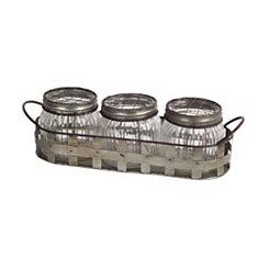 Farmhouse Jars in Metal Basket