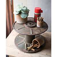Reclaimed Iron Spool Stand