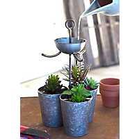 Zinc Triple Watering Bucket Planter