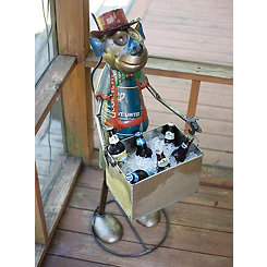 Recycled Monkey with Removable Metal Tub Cooler