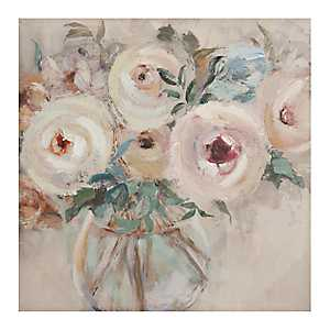 Rosy Posy Floral Canvas Art Print