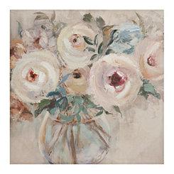 Rosy Posy Floral Canvas Art Print