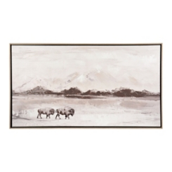 The Power Bison Landscape Framed Art Print