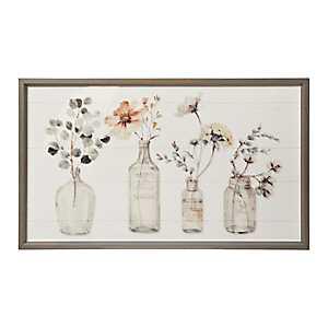 Fall Botanical Bottles Framed Art Print
