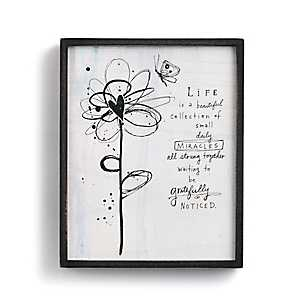 Life is Beautiful Wood Plaque