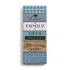 Love of Family Wood Block Art Print