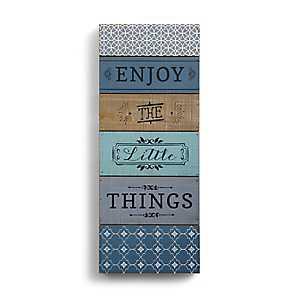 Enjoy the Little Things Wood Block Art Print