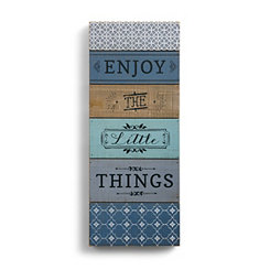 Enjoy the Little Things Wood Block Art Print