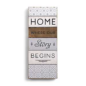 Home is Where Our Story Begins Wood Block Print