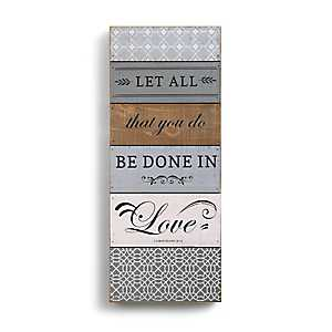 Let All The You Do Wood Block Art Print