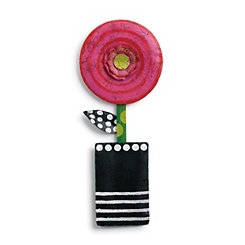 Potted Pink Circle Flower Wall Hanger