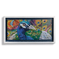 Fine Feathers Peacock Shadowbox Art Print