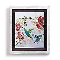 Hummingbirds and Blooms Shadowbox Art Print