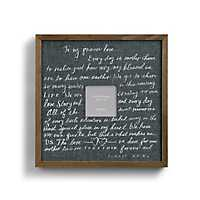 Precious Love Letter Picture Frame, 4x4