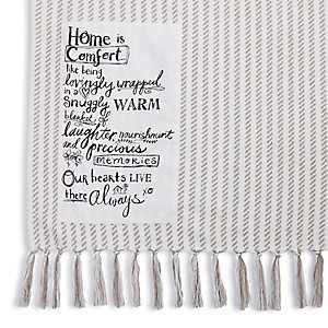 Home is Comfort Tassel Throw