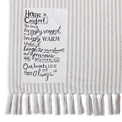 Home is Comfort Tassel Throw
