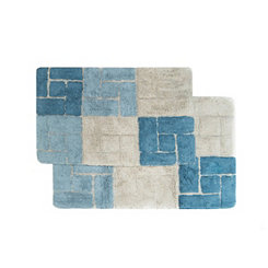 Aquamarine Berkeley Bath Mats, Set of 2