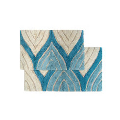Aquamarine Davenport Bath Mats, Set of 2