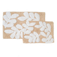 Taupe Monte Carlo Bath Mats, Set of 2