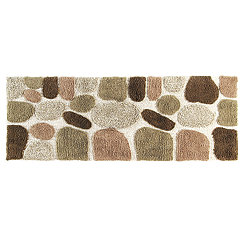 Khaki Pebbles Bath Mat Runner