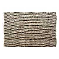 Black Criss Cross Jute Area Rug, 5x7
