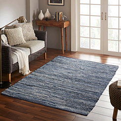 Recycled Denim Chindi Area Rug, 5x7