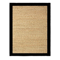 Black Seagrass Area Rug, 5x7