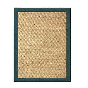 Teal Seagrass Area Rug, 5x7