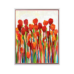 Red Delight Hand Painted Framed Art Print