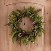 Cedar, Pine Cone, and Berry Wreath