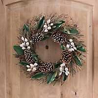 Magnolia and Metallic Berry Wreath