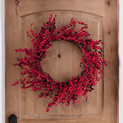 red berries christmas wreath