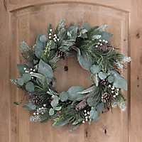 Sparkling Berry and Eucalyptus Leaf Wreath