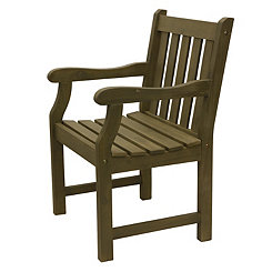 Myles Brushed Gray Slatted Outdoor Chair