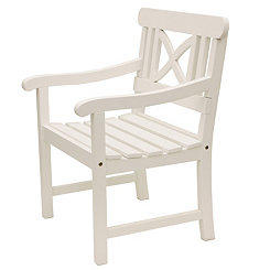 Gatsby Geometric White Outdoor Chair
