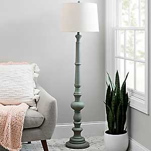 Coastal Gray Candlestick Floor Lamp