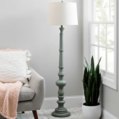 Coastal Gray Candlestick Floor Lamp