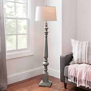 Coastal Gray Baluster Floor Lamp