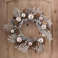 Rose Gold Ornament Wreath