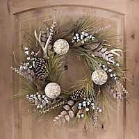 Pine and Antler Christmas Wreath