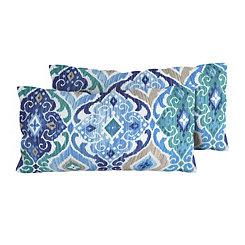 Cobalt Medallion Outdoor Accent Pillows, Set of 2