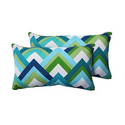 Resort Zig Zag Outdoor Accent Pillows, Set of 2
